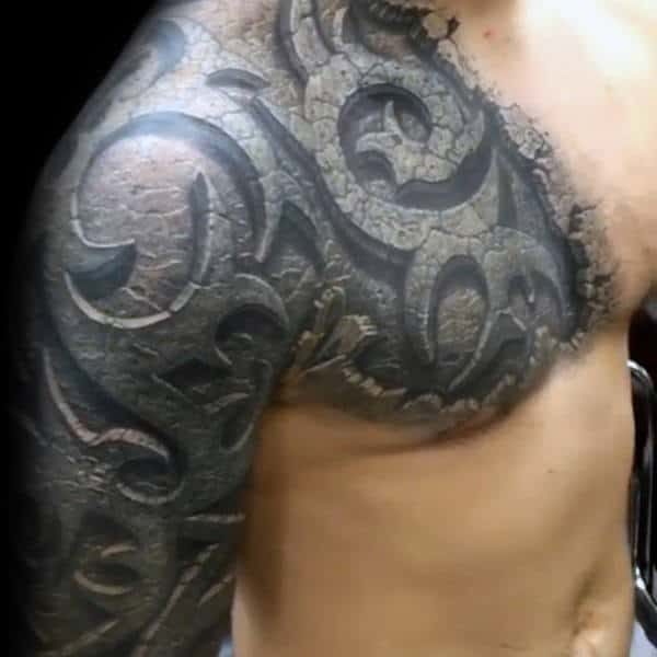 80 Tribal Shoulder Tattoos For Men Masculine Design Ideas Ideas And Designs