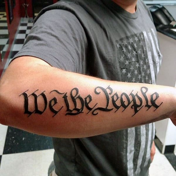 60 We The People Tattoo Designs For Men Constitution Ink Ideas And Designs