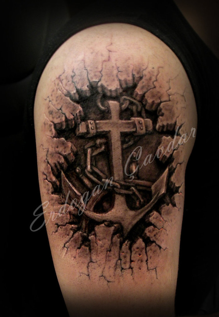 3D Cross Tattoo Designs Tattoos Of Crosses Ideas And Designs