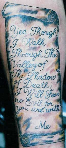 Best Tattoos For Men Psalm 23 Tattoo Ideas And Designs