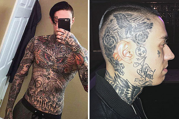 Miley Cyrus S Brother Shows Off Fully Tattooed Body Ideas And Designs