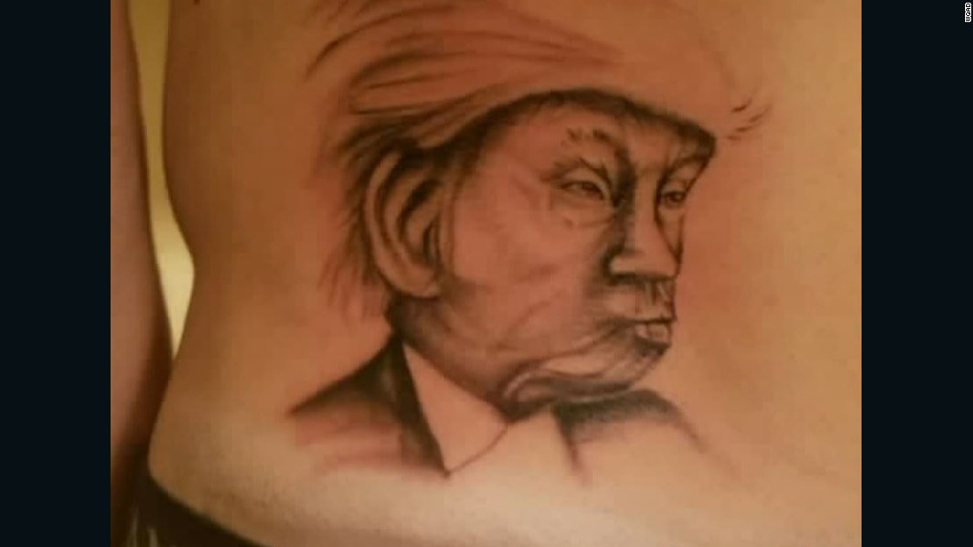Lose Election Bet Get A Trump Tattoo Cnn Ideas And Designs