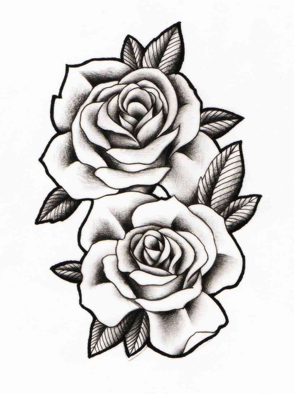 Roses Outline Free Download Best Roses Outline On Ideas And Designs