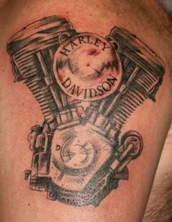 35 Groovy Harley Davidson Tattoos Slodive Ideas And Designs