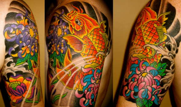 Koi 1 4 Sleeve Tattoo Ideas And Designs