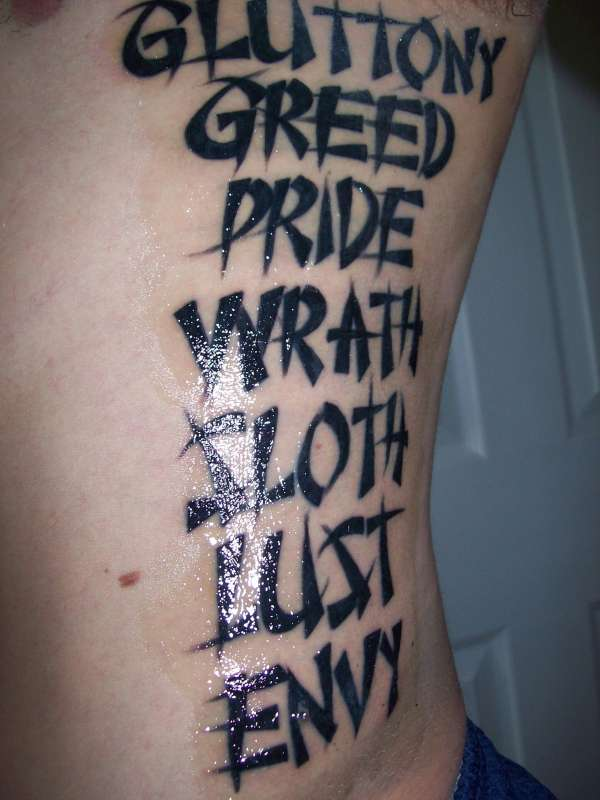 7 Deadly Sins Tattoo Ideas And Designs