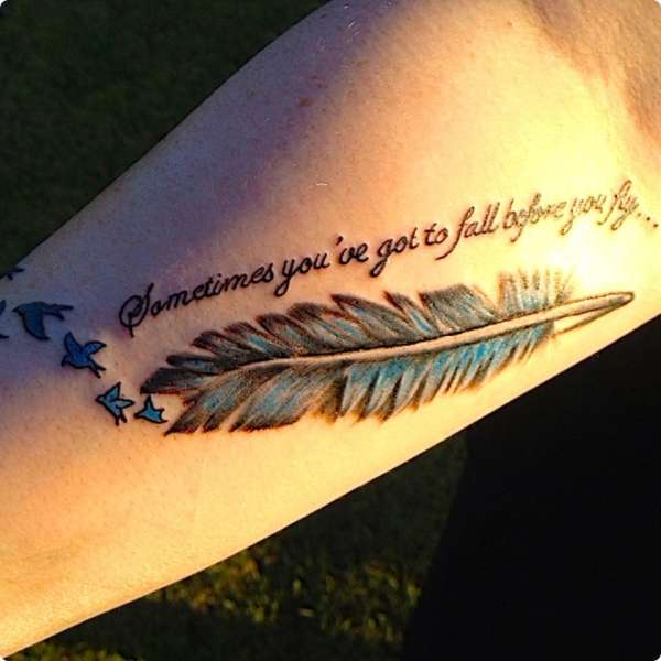 3D Feather Tattoo Ideas And Designs