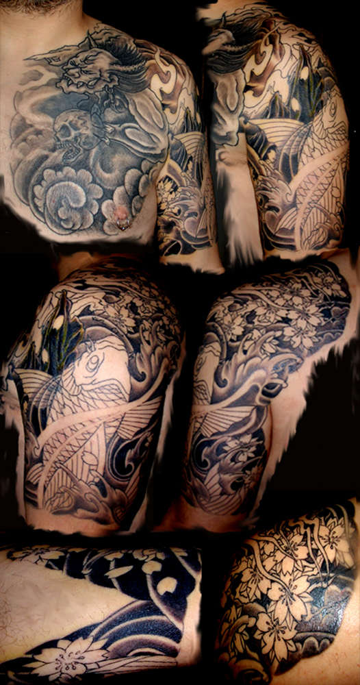 Japanese Demon Koi The Big Cover Up Tattoo Ideas And Designs