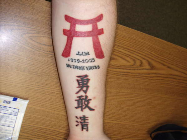 Tribute Japanese Kanji Torri Tattoo Ideas And Designs
