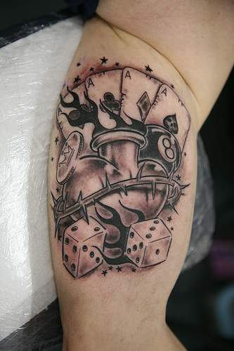 Best Tattoos For Men Playing Card Tattoos Ideas And Designs