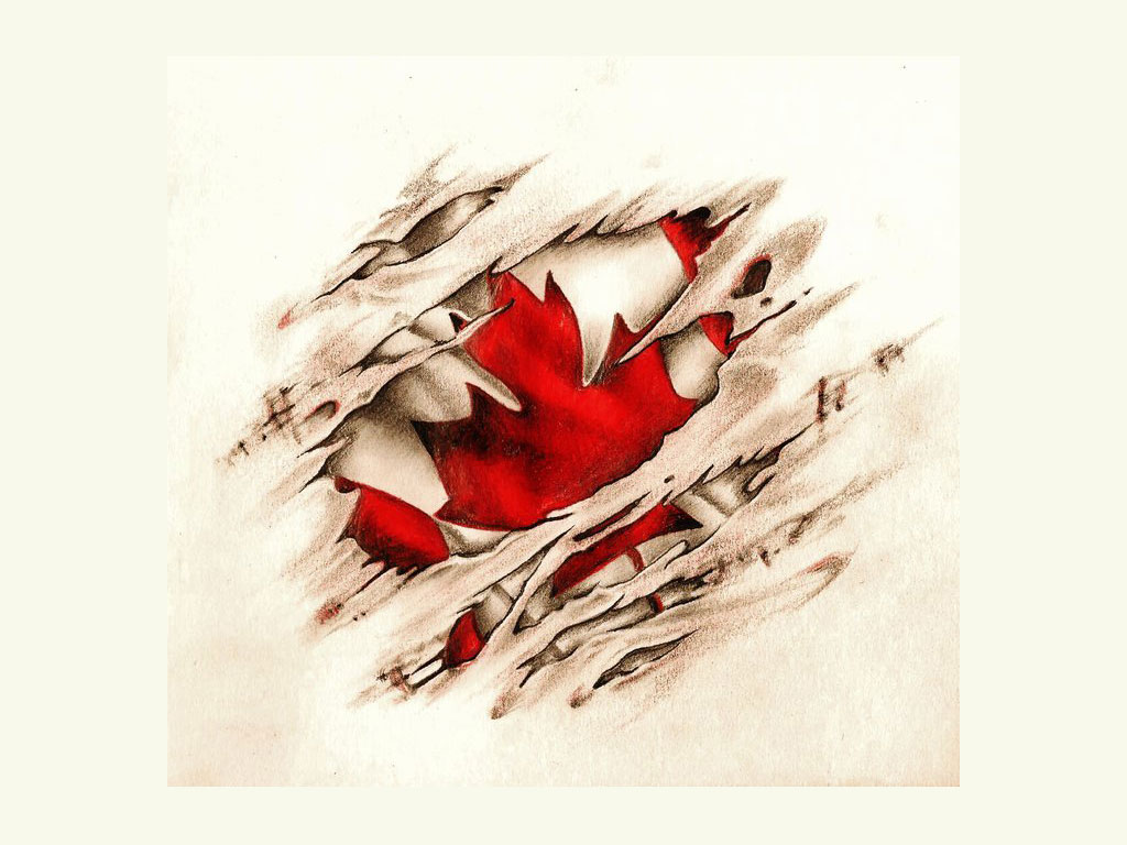 Canadian Scratched Vintage Flag Tattoo Tattoo Lawas Ideas And Designs