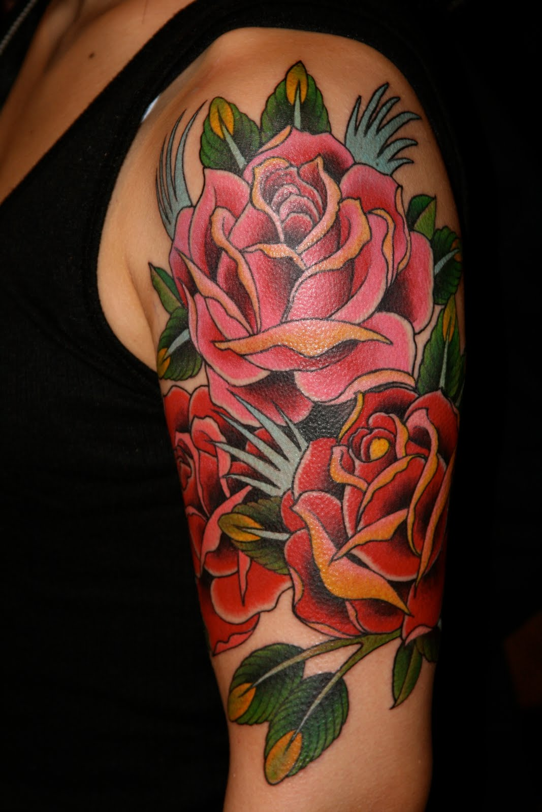 Blackheart Tattoo San Francisco Reapers And Roses From Ideas And Designs