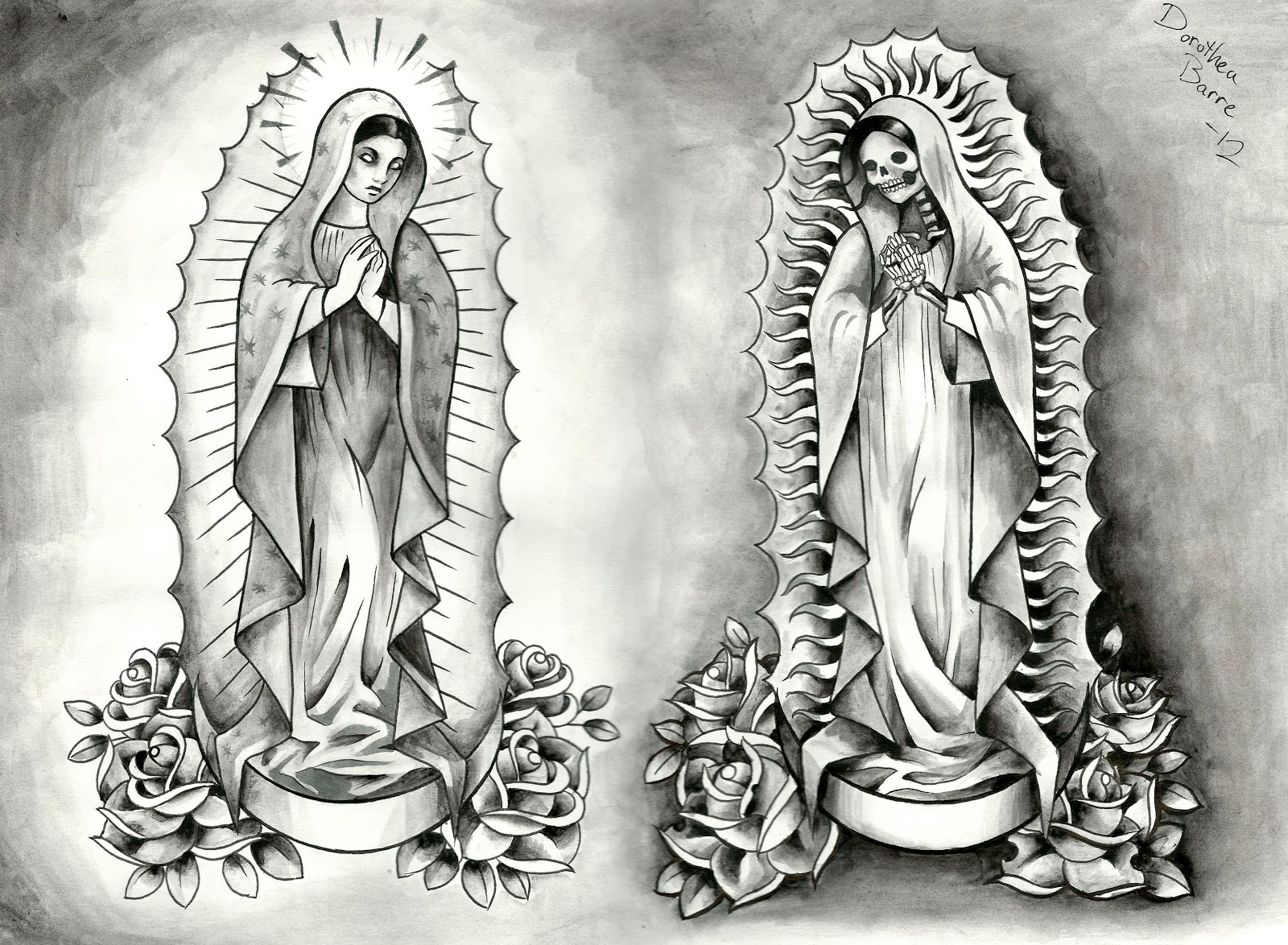 Santa Muerte Tattoos Dorothea Barre Tattoo Art 48254 Jpg Ideas And Designs