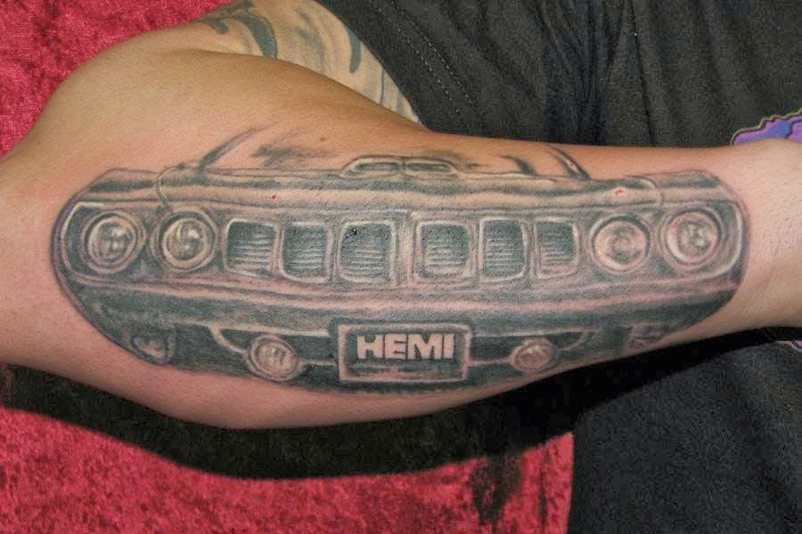 Just A Car Guy Cool Mopar Tattoo Ideas And Designs