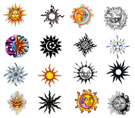 Brainsy Heart Sun Tattoo Design Ideas And Designs