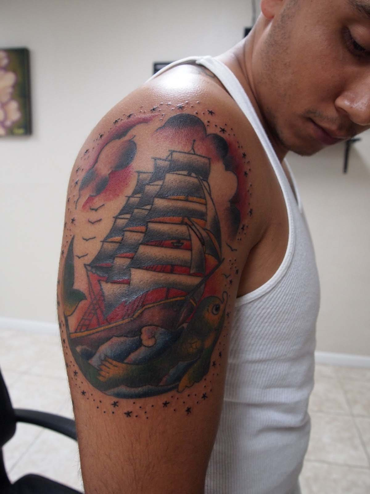 3D Tattoo On Biceps And Triceps Tattoos Photo Gallery Ideas And Designs