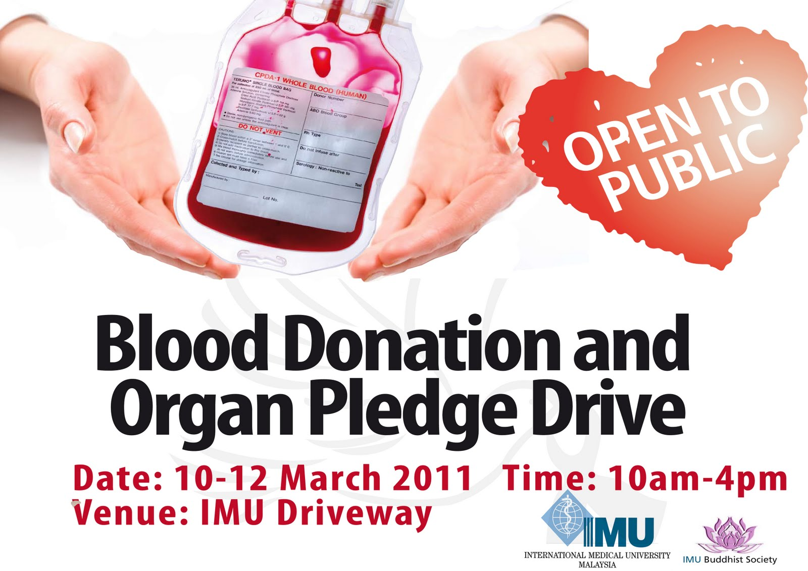 Imu Buddhist Society Blood Donation And *Rg*N Pledge Ideas And Designs
