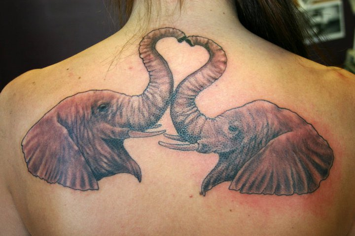 Back Elephant Tattoo By 46 And 2 Tattoo Ideas And Designs