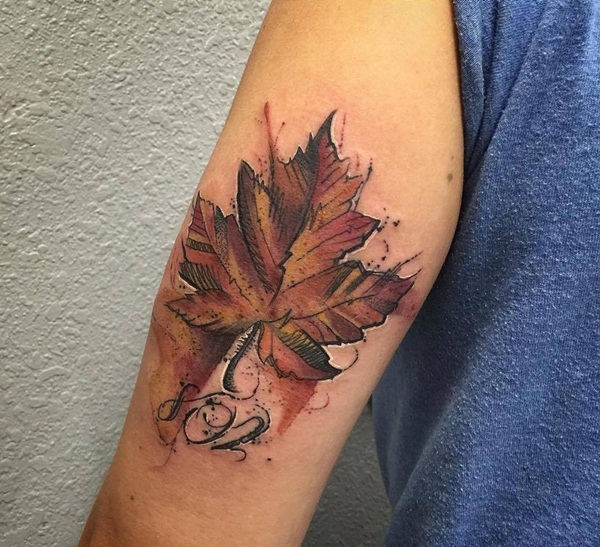 90 Leaf Tattoos That Celebrate The Fall Ideas And Designs
