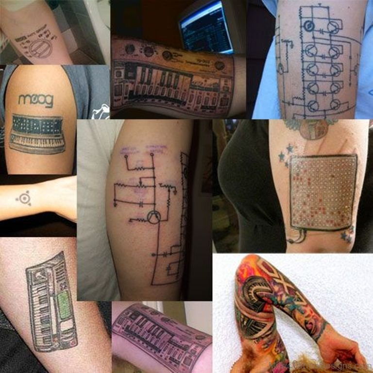 42 Awesome Synthesizer Tattoos Ideas And Designs