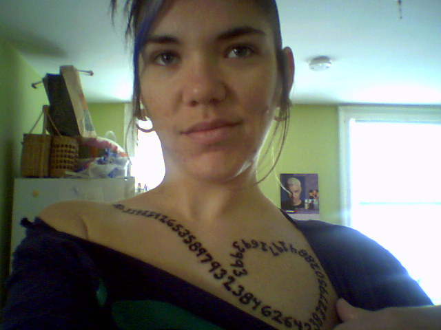 Scuffy Hearts Pi Geeky Tattoos Ideas And Designs