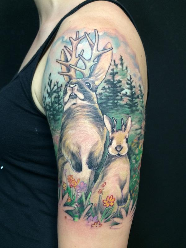 Jackalope By Jon Highland Tattoos Ideas And Designs