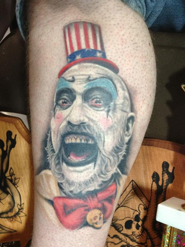 Identity Tattoo Tattoos Ben Rettke Captain Spaulding Ideas And Designs