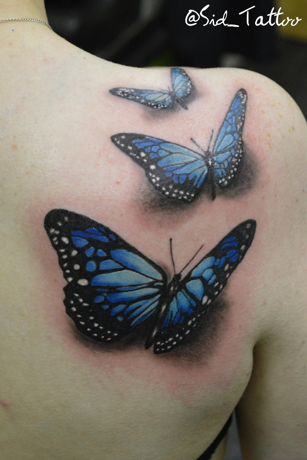 3D Butterfly Tattoo By Sid Tattoo On Deviantart Ideas And Designs