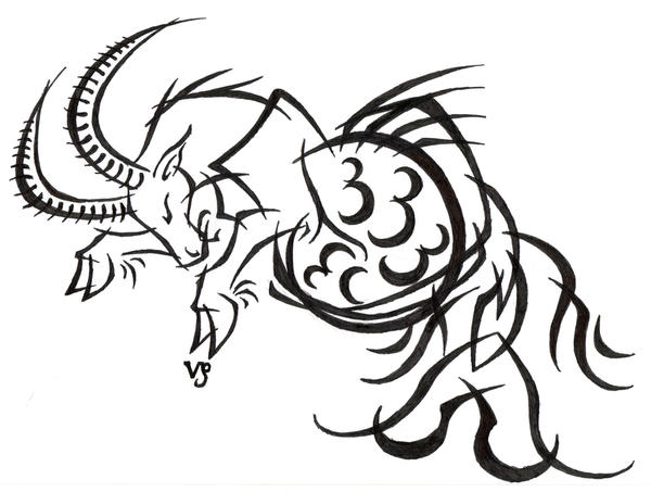 Capricorn Tribal Tattoo By Sybil On Deviantart Ideas And Designs