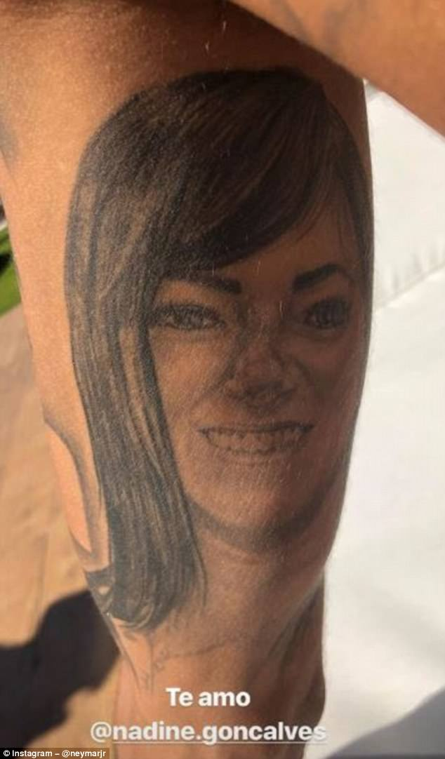 Neymar Reveals New Tattoo Of His Mum As He Continues To Ideas And Designs