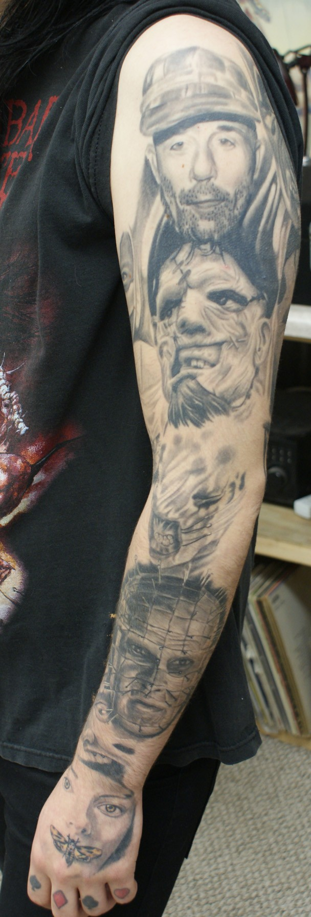Horror Portrait Sleeve Best Portrait Tattoo Artist Tampa Ideas And Designs