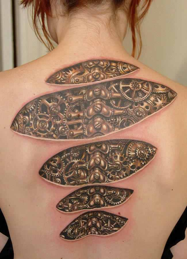 Biomechanical 3D Tattoo Design Of Tattoosdesign Of Tattoos Ideas And Designs