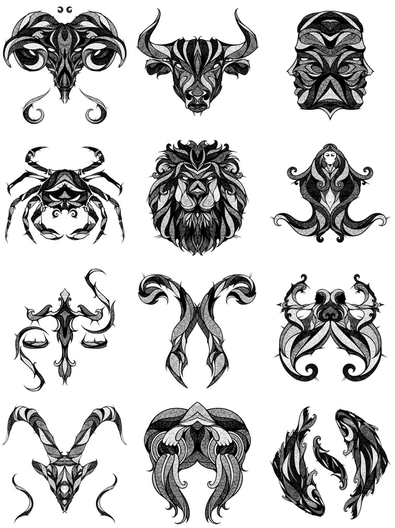 Incredible Illustrations Of Zodiac Signs By Andreas Preis Ideas And Designs