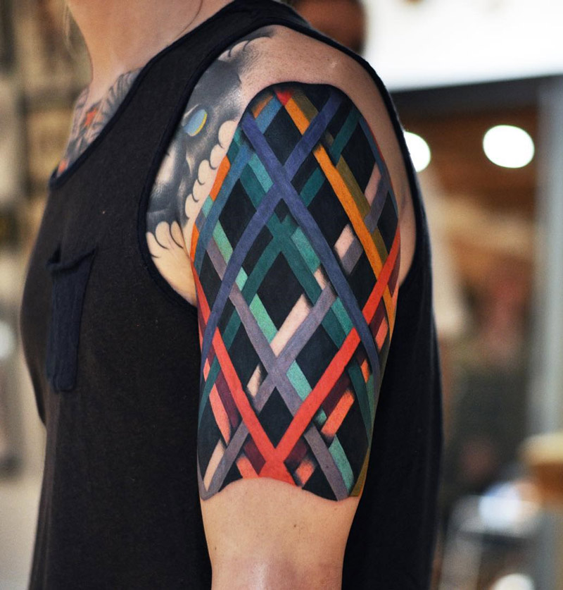 Colored Lines Abstract On Guys Arm Best Tattoo Design Ideas Ideas And Designs