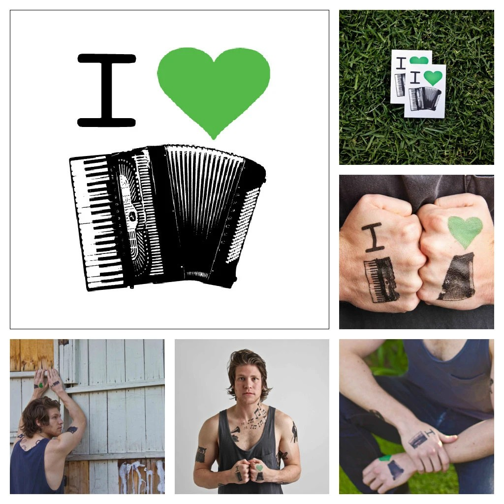 Accordion Temporary Tattoo Set Of 2 By Tattify On Etsy Ideas And Designs