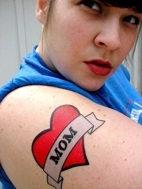 Custom Heart Temporary Tattoo 4 Inch By Buttonhead On Etsy Ideas And Designs