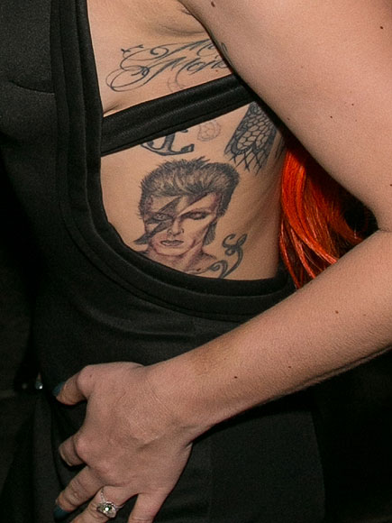 Lady Gaga S David Bowie Tattoo Singer Shows Ink At V Ideas And Designs