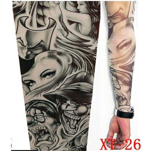 2X Fake Tattoo Sleeve Cloth Arm Design Party Sleeves Fancy Ideas And Designs