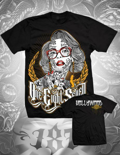Authentic 187 Inc Clothing Hollywood Gold Girl Tattoo T Ideas And Designs