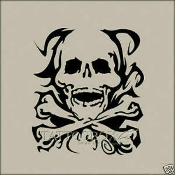 Airbrush Tattoo Stencils Templates Skull M Size Ideas And Designs