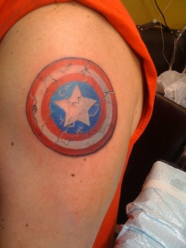 Tattoo On Flickr The Captain America Shield Ideas And Designs