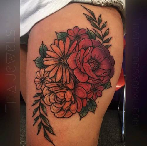 Little Pr*Cks Tattoo Studio Amazing Floral Tattoo By Our Ideas And Designs