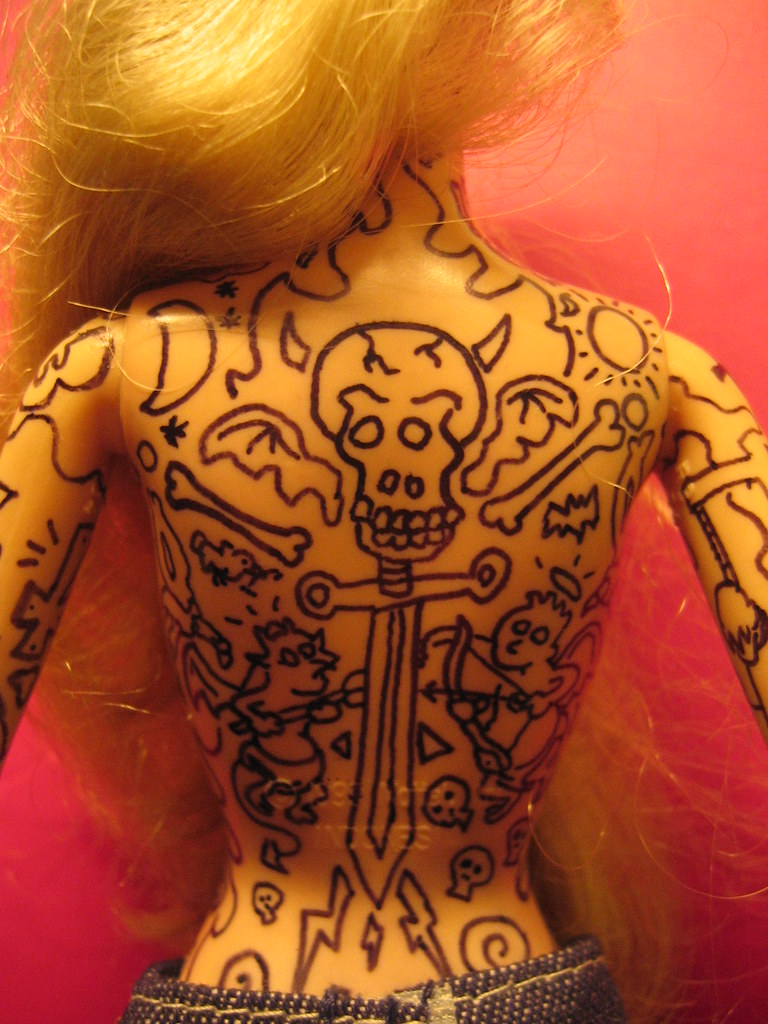 Barbie S Tattoo Rage A Photo On Flickriver Ideas And Designs