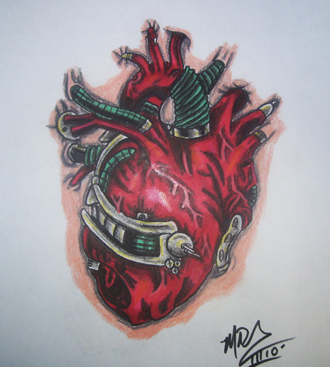Biomechanical Heart Explore Tattoosbymiked S Photos On Ideas And Designs