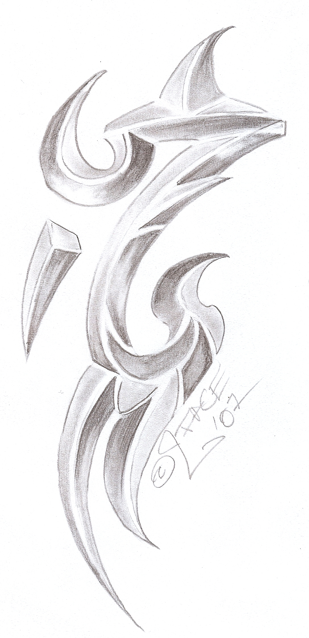 Tattooflash Tribal Chrome 3D By 2Face Tattoo On Deviantart Ideas And Designs