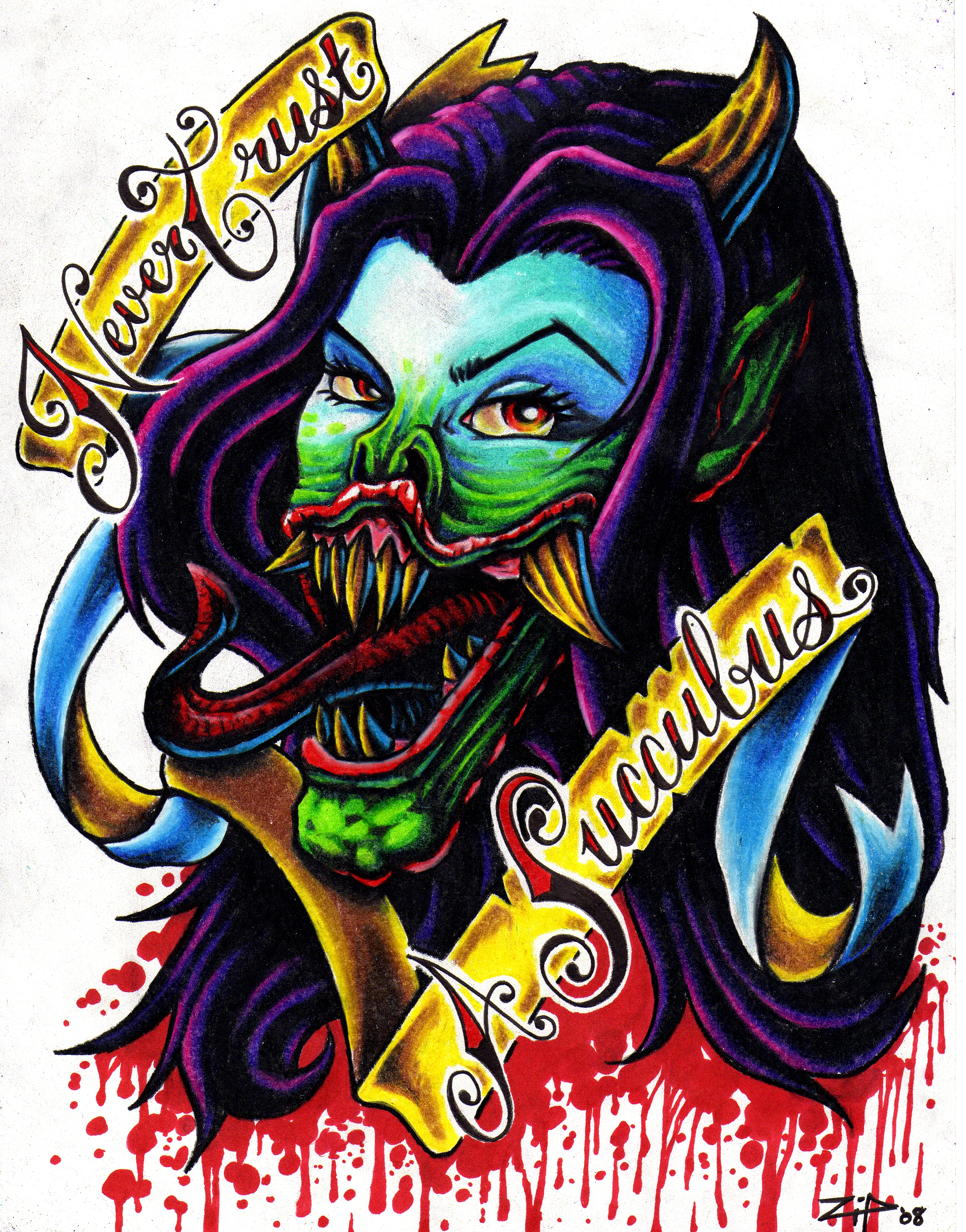 Never Trust A Succubus By Tattoos By Zip On Deviantart Ideas And Designs