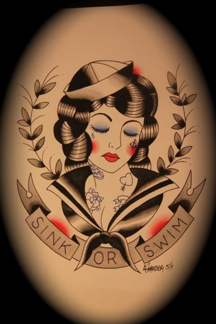 Gypsy In Her Soul Traditional Tattoo Flash Art By Ahren Ideas And Designs