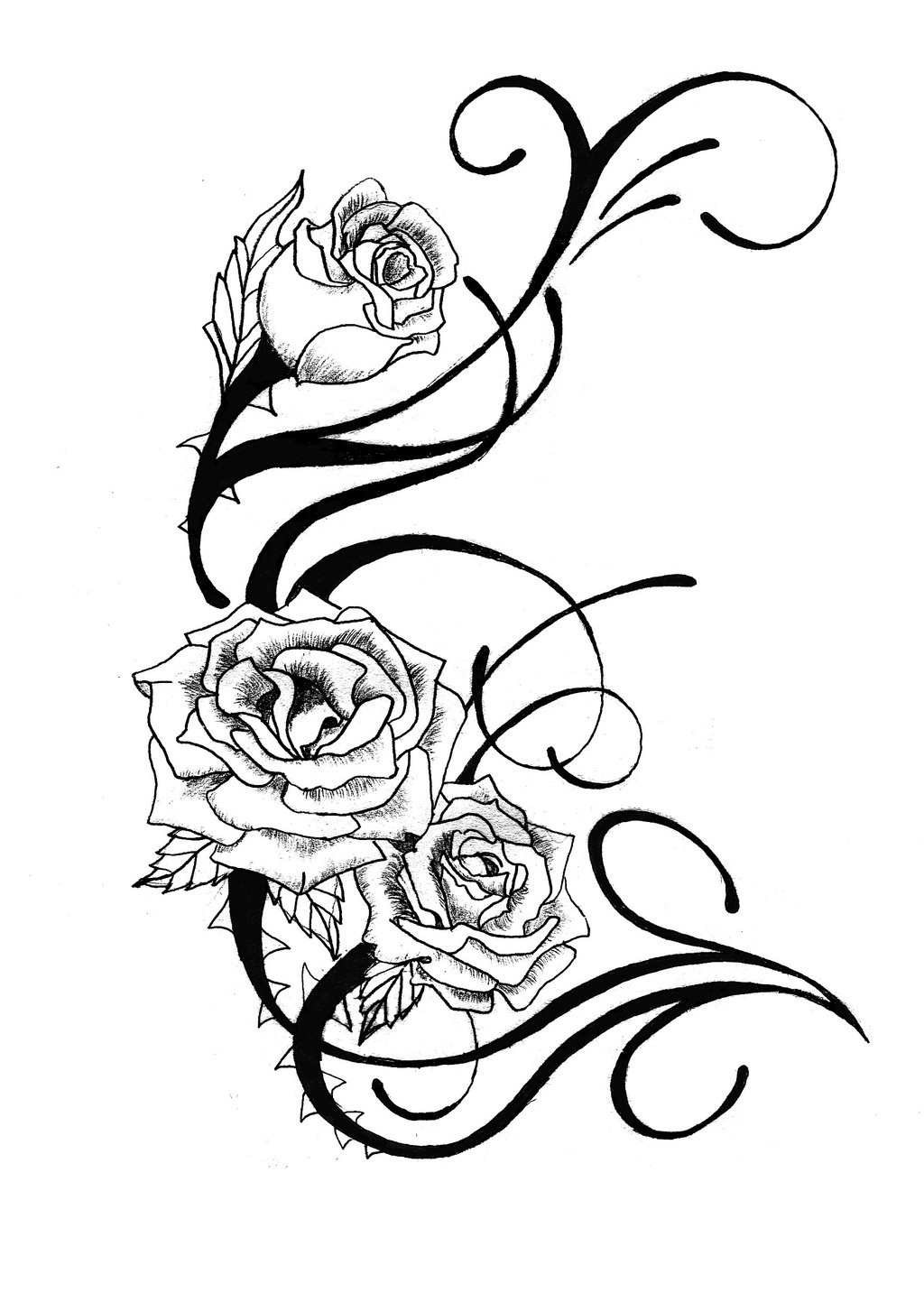 Rose Tattoo Design By Csdesigns83 On Clipart Library Ideas And Designs