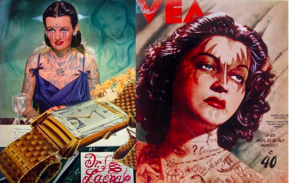 Tattooed Makeovers Of 1950S Pin Up Girls Ideas And Designs