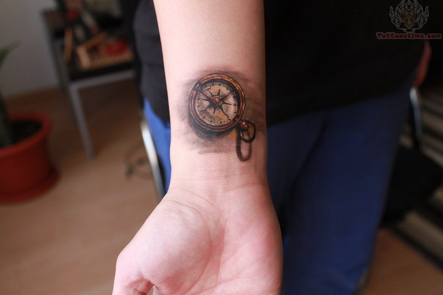 Small Compass Tattoo On Wrist Ideas And Designs